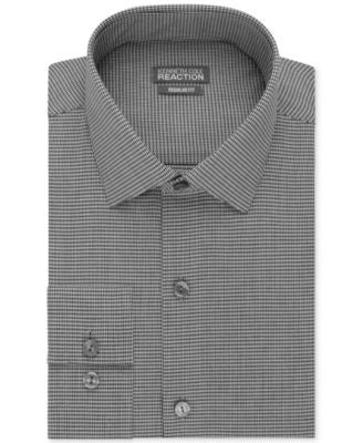 Kenneth Cole Reaction Slim-Fit Performance Micro Check Dress Shirt