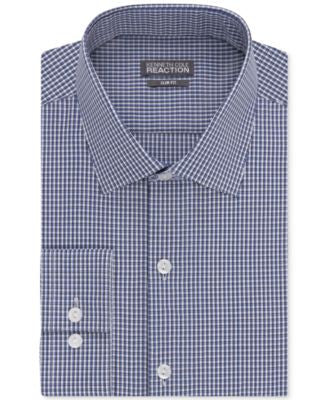 Kenneth Cole Reaction Men's Slim-Fit Performance Check Dress Shirt