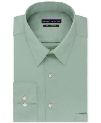 Geoffrey Beene Big and Tall Non-Iron Sateen Solid Dress Shirt