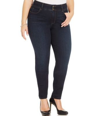 Style & Co. Plus Size Tummy-Control Ravine Wash Skinny Jeans, Only at Vogily
