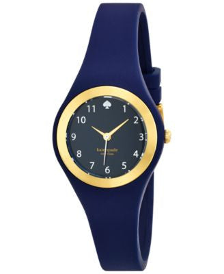 kate spade new york Women's Rumsey Blue Strap Watch 30mm 1YRU0650