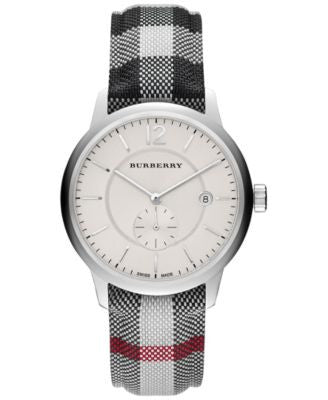 Burberry Unisex Swiss Stone Check Strap Watch 40mm BU10002