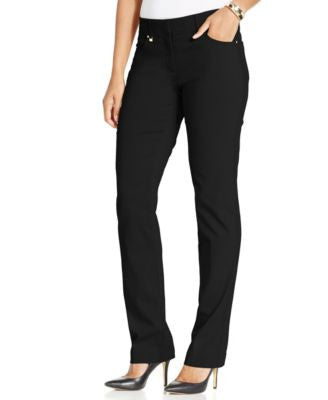 JM Collection Petite Slim-Leg Pants, Only at Vogily