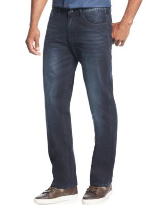 Sean John Men's Patch-Pocket Hamilton Relaxed Fit Jeans, Indigo Wash