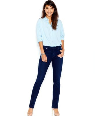 7 For All Mankind Kimmie Straight-Leg Jeans, Slim Illusion Luxe Rich Blue Wash
