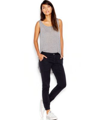 Joe's Ankle-Zip Jeans, Jet Black Wash