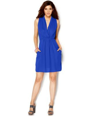 Bar III Ruched Surplice Dress