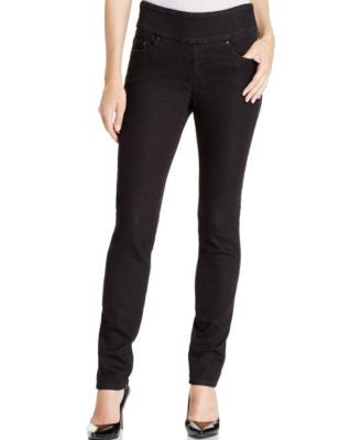JAG Petite Pull-On Nora Black Rinse Wash Skinny Jeans