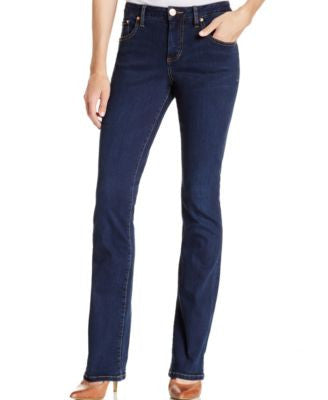 JAG Petite Marshall Bootcut Jeans, Blue Shadow Wash