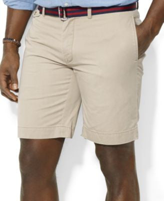 Polo Ralph Lauren Men's Big and Tall Classic-Fit Flat-Front Suffield Shorts