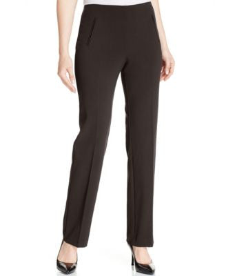 Style & Co. Petite Straight-Leg Tummy-Control Pants