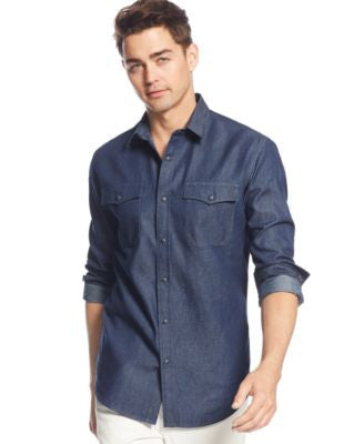 American Rag Men's Big & Tall Long-Sleeve Shirt, Only at Vogily