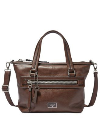 Fossil Dawson Leather Satchel