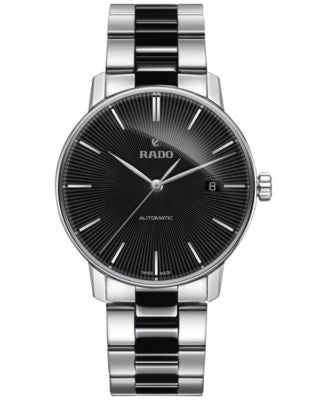 Rado Men's Swiss Automatic Coupole Classic Black Ceramos® and Stainless Steel Bracelet Watch 38mm R2