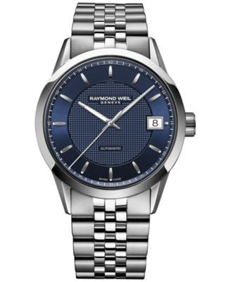RAYMOND WEIL Men's Swiss Automatic Freelancer Stainless Steel Bracelet Watch 42mm 2740-ST-50021