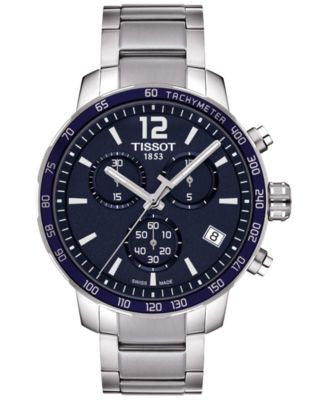 Tissot Men's Swiss Chronograph Quickster Stainless Steel Bracelet Watch 42mm T0954171104700