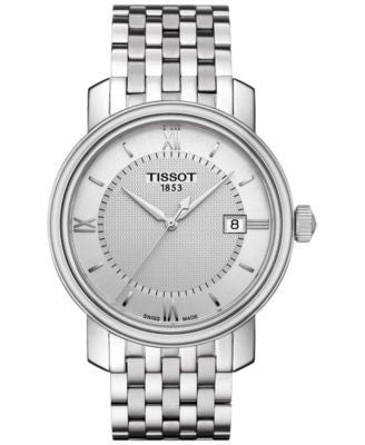 Tissot Men's Swiss Bridgeport Stainless Steel Bracelet Watch 40mm T0974101103800