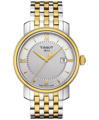 Tissot Men's Swiss Bridgeport Two-Tone Stainless Steel Bracelet Watch 40mm T0974102203800