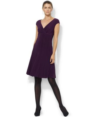 Lauren Ralph Lauren Petite Cap-Sleeve Dress