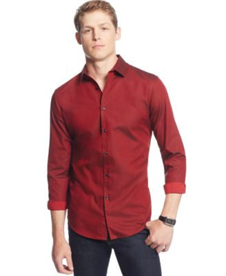 INC International Concepts Men's Joshua Non-Iron Shirt, Only at Vogily