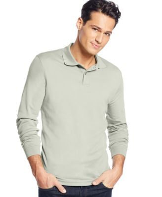 Tasso Elba Big and Tall Signature Long-Sleeve Polo, Only at Vogily