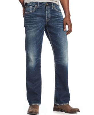 Silver Jeans Men's Gordie Loose-Fit Straight-Leg Jeans