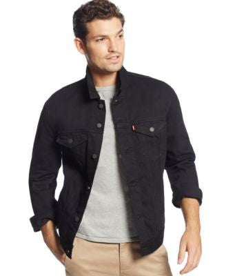 Levi's Men's Berkman Black Trucker Jacket