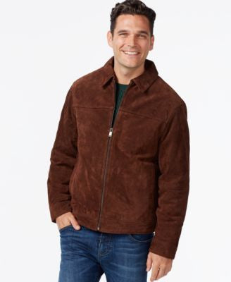 Boston Harbour Lay-Down Collar Suede Jacket