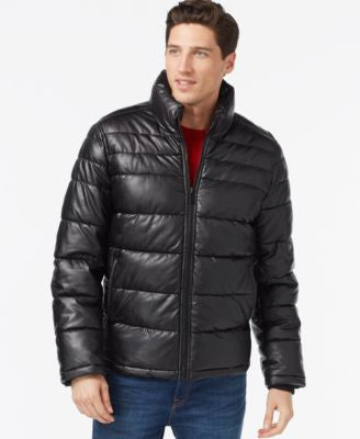 Tommy Hilfiger Faux-Leather Quilted Jacket