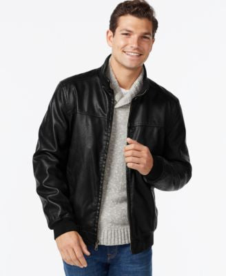 Tommy Hilfiger Faux-Leather Bomber Jacket