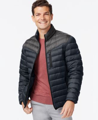 INC International Concepts Color-Blocked Down Packable Jacket