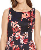 American Living Pleated Floral-Print Dress