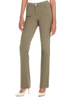 Charter Club Petite Straight-Leg Twill Pants