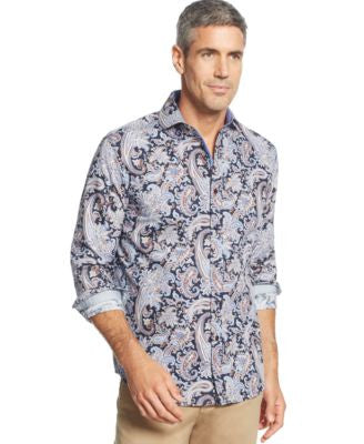 Tasso Elba Long Sleeve Paisley Shirt