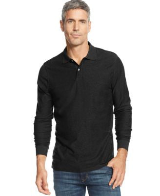 Tasso Elba Long-Sleeve Marl Polo, Only at Vogily