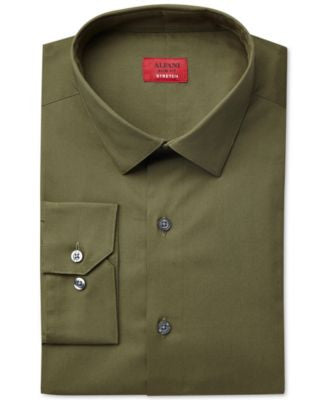 Alfani Spectrum Slim-Fit Solid Dress Shirt