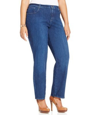Lee Platinum Plus Size Relaxed Fit Straight Leg Jeans