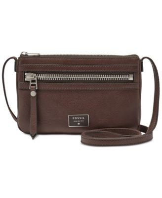 Fossil Dawson Leather Mini Crossbody