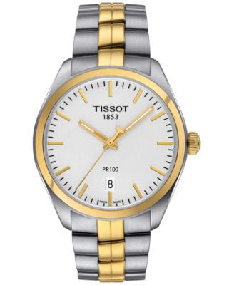 Tissot Women's Swiss PR 100 Two-Tone Stainless Steel Bracelet Watch 33mm T1012102203100