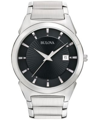 Bulova Men's Stainless Steel Bracelet Watch 38mm 96B149