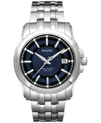 Bulova Men's Precisionist Stainless Steel Bracelet Watch 42mm 96B159