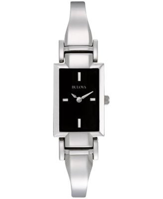 Bulova Women's Stainless Steel Bangle Bracelet Watch 18mm 96L138