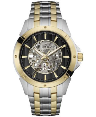Bulova Men's Automatic Two-Tone Stainless Steel Bracelet Watch 43mm 98A146