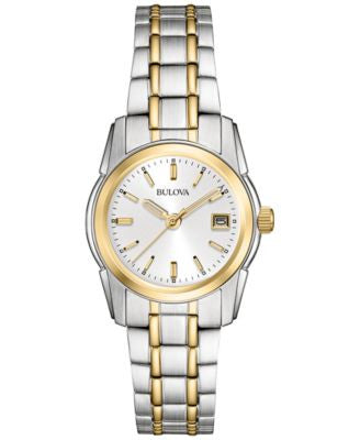 Bulova Women's Two Tone Stainless Steel Bracelet Watch 20mm 98M105