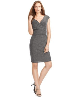 Lauren Ralph Lauren Metallic Surplice Dress