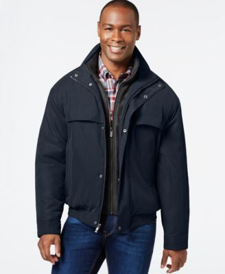 Weatherproof Bomber Jacket with Attached Bib