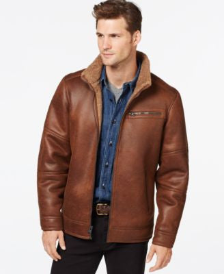 Buffalo David Big & Tall Bitton Faux-Shearling Jacket
