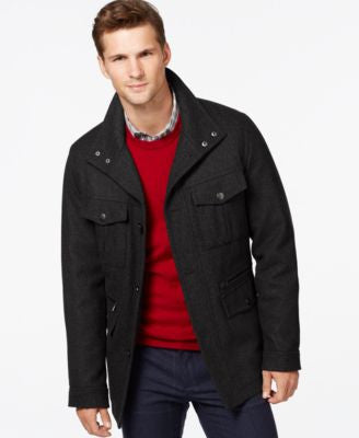 MICHAEL Michael Kors Big & Tall Wool-Blend Field Coat