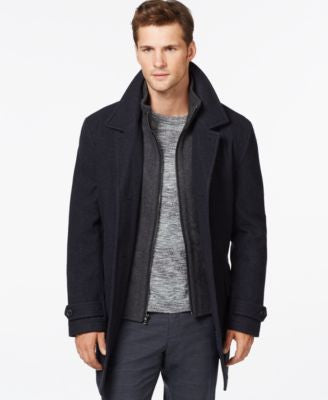 MICHAEL Michael Kors Big & Tall Wool-Blend Car Coat
