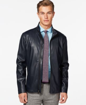 Ryan Seacrest Faux Leather Lightweight Moto Jacket